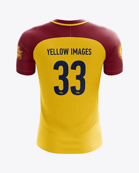 Download Men's Soccer Jersey mockup (Back View) in Apparel Mockups ...
