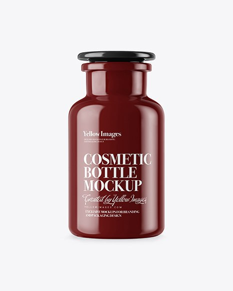Download Glossy Cosmetic Bottle Yellow Images