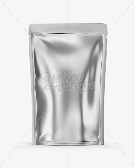 Download Metallic Stand Up Pouch Zipper Psd Mockup Yellow Images