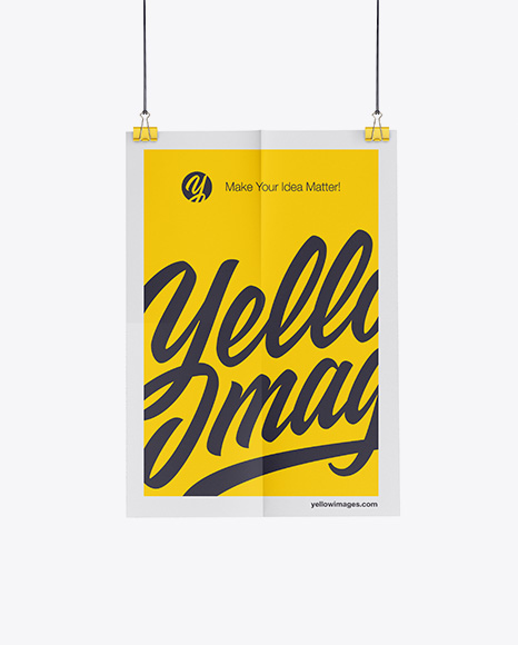 Download Poster Mockup Photoshop Yellowimages