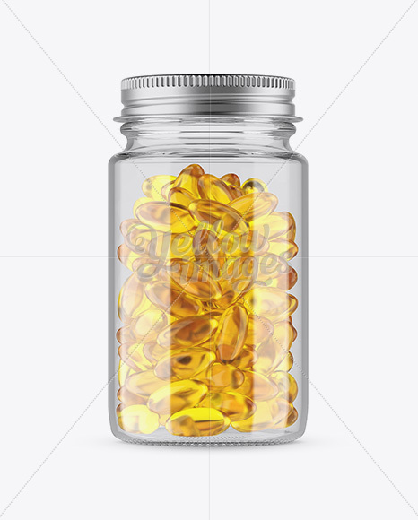 Download Green Bottle With Fish Oil Psd Mockup Yellowimages