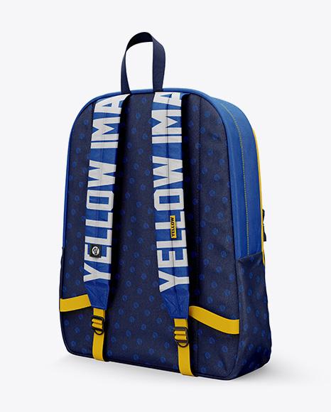 5996c13991aa4 Backpack Mockup - Back Half-side View templates