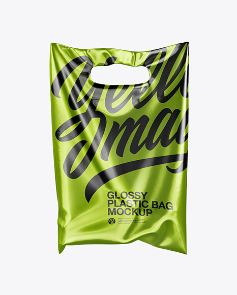 Psd file consists of smart objects. Metallic Plastic Carrier Bag Mockup In Bag Sack Mockups On Yellow Images Object Mockups