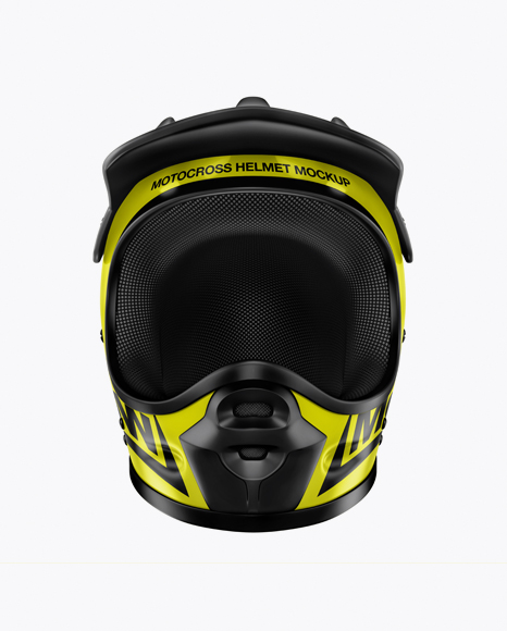 Download Motocross Helmet Mockup - Front View in Object Mockups on ...