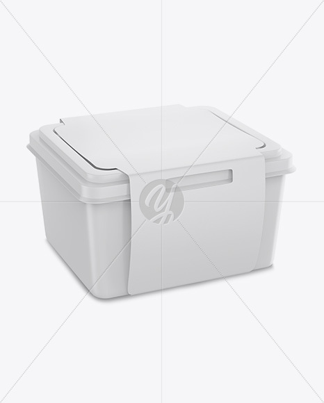 Download Square Plastic Container Mockup Yellow Images