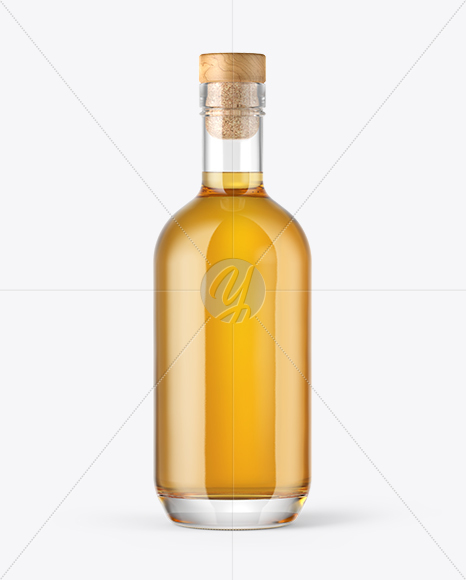 Download Vodka Bottle With Wooden Cap Psd Mockup Yellowimages
