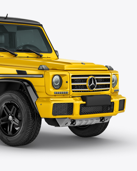 Download Mercedes-Benz G class Mockup - Half Side view Object Mockups