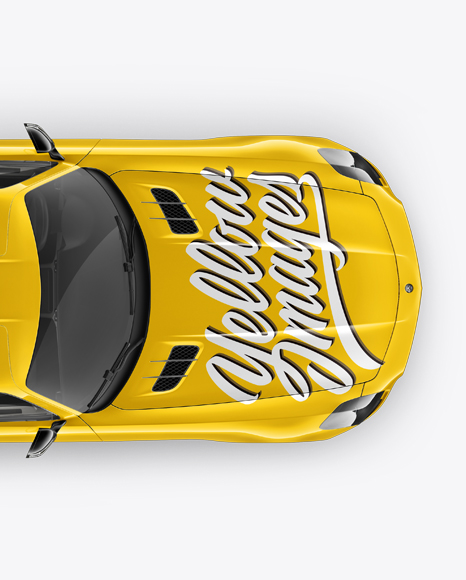 Download Mercedes-Benz SLS AMG Mockup - Top View Object Mockups