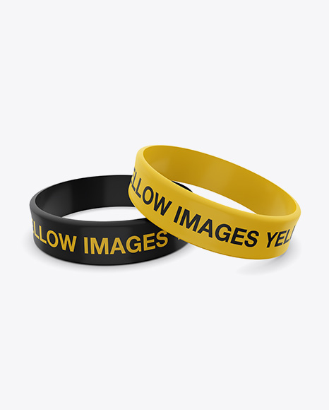 Free thin bracelet mockup psd to showcase your design in a photorealistic look. Thick Silicone Wristbands Mockup Free Psd Mockup Graphics