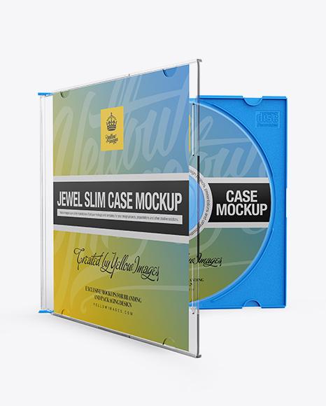 59d6b65a80edc Open Jewel Slim Case Mockup - Front View templates