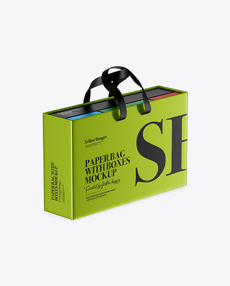 Download Paper Bag Psd Mockup Half Side View Yellowimages