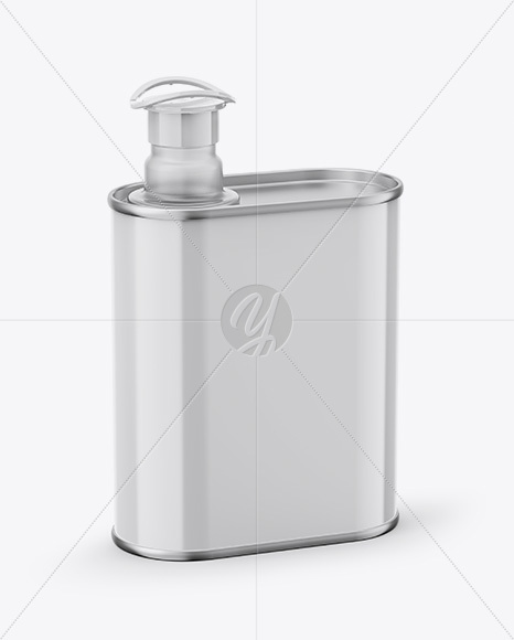 Download 1l Metallic Olive Oil Tin Can Psd Mockup Yellowimages
