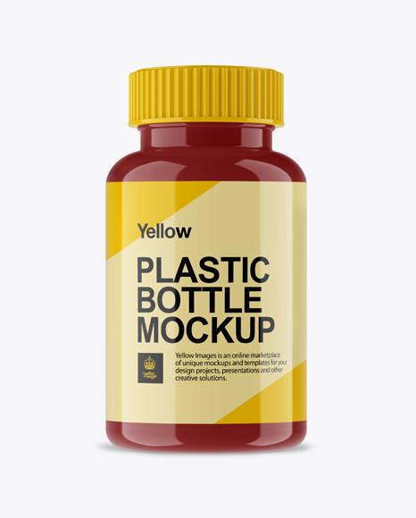 59e780e291222 Glossy Pill Bottle Mockup - Front View templates