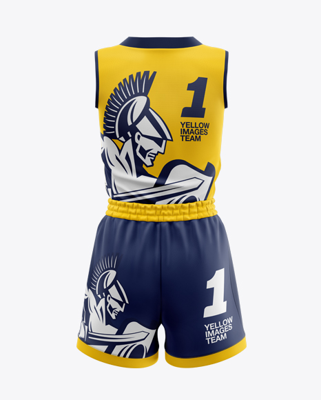 Download Basketball Kit Mockup Back View Yellowimages
