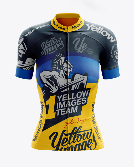 Download Women's Cycling Jersey Mockup - Front View in Apparel ...