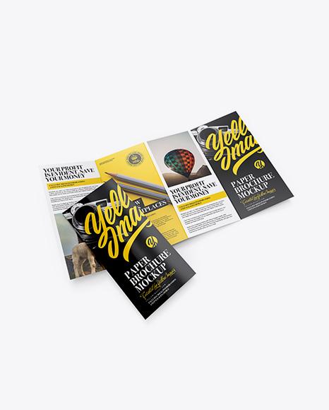 5a0b2200c48ef Glossy Paper Brochure Mockup - High-Angle Shot templates