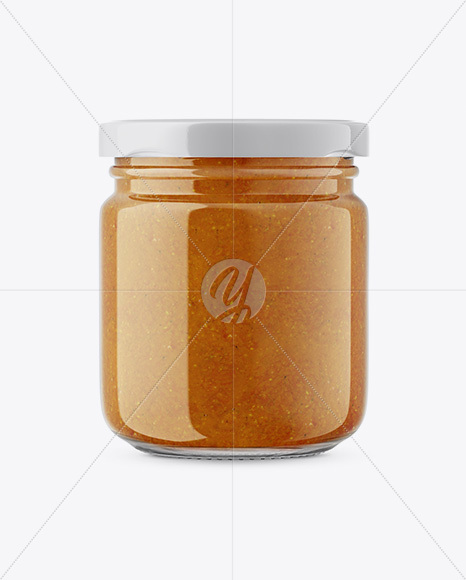 Download 120g Glass Jar In Shrink Sleeve With Tartar Sauce Mockup Yellowimages