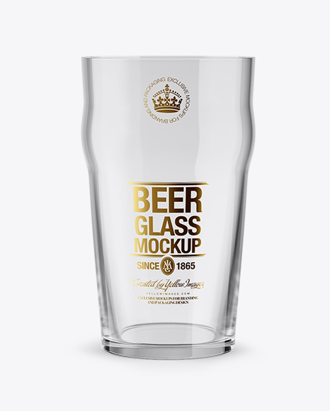Download Tulip Glass With White Ale Psd Mockup Yellowimages