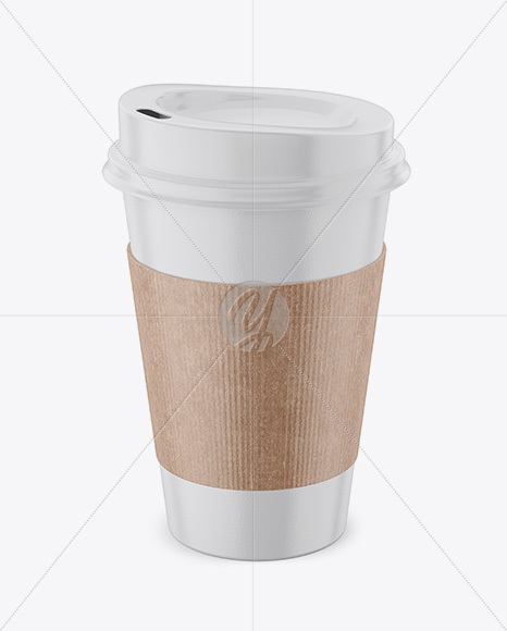 Download Paper Cup Sleeve Mockup Yellow Images
