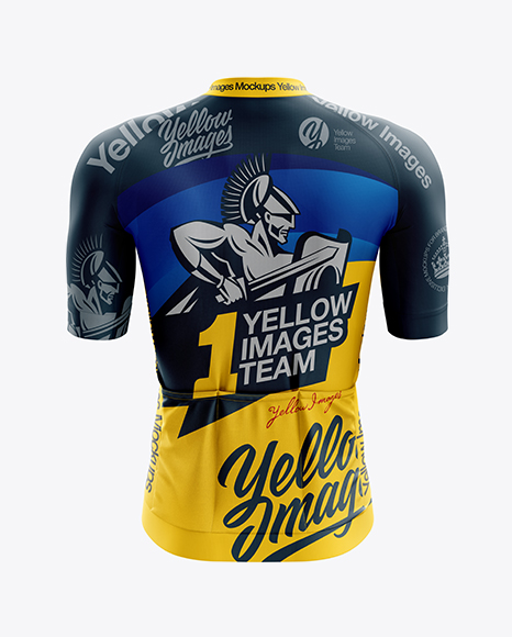 Download Men's Cycling Speed Jersey mockup (Back View) in Apparel ...