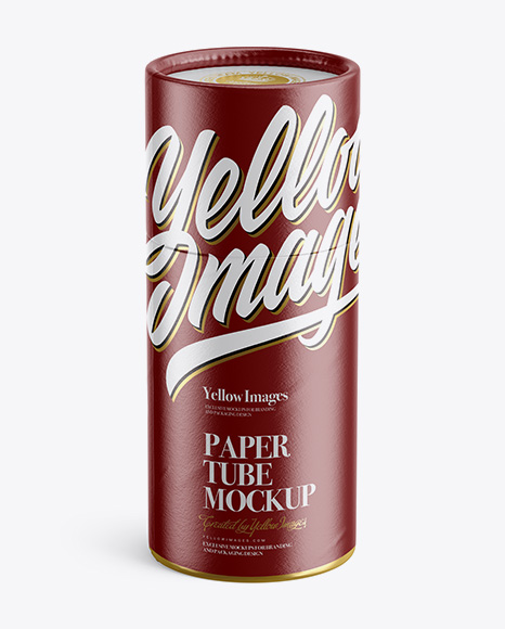 Download Opened Glossy Paper Tube Yellow Images
