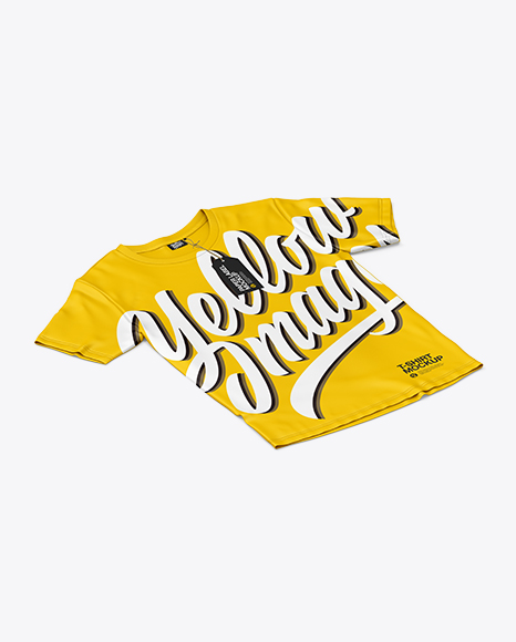 Download T Shirt Neck Label Mockup Yellowimages