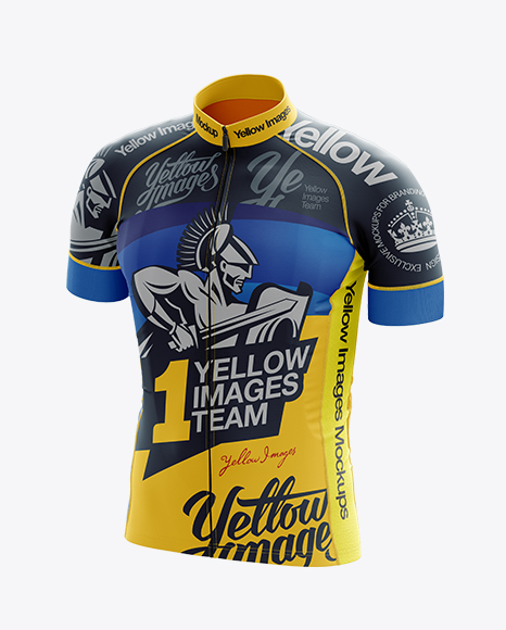 Download Free Men's Cycling Jersey Mockup - Front 3/4 View (PSD ...