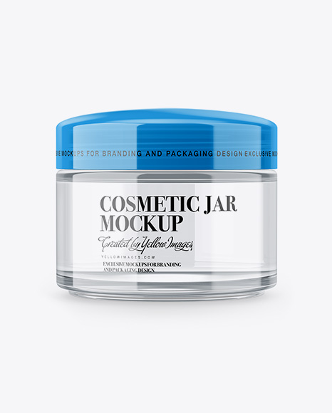 Download Clear Cosmetic Jar Mockup Yellowimages