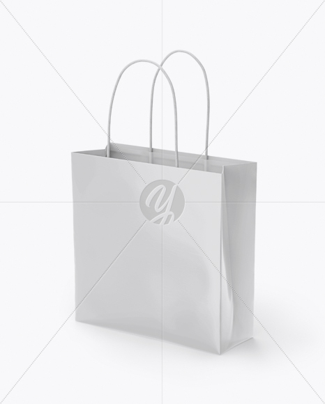 Download Square Glossy Paper Bag Psd Mockup Yellowimages