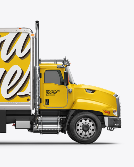 Download Box Truck Mockup Free Yellowimages