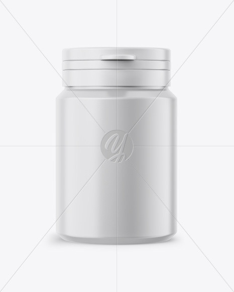 Download Glossy Plastic Pills Bottle Psd Mockup Front View Yellowimages