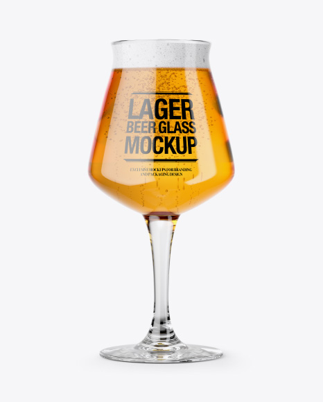 5acb2d2aafbe0 Teku Glass With Lager Beer Mockup templates