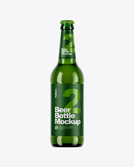5acb7a4d36f7b Green Glass Bottle With Lager Beer Mockup templates