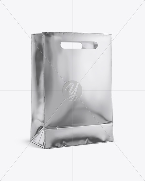 Check out our plastic bag mockup selection for the very best in unique or custom,. Matte Metallic Shopping Bag Mockup Halfside View Eye Level Shot In Bag Sack Mockups On Yellow Images Object Mockups