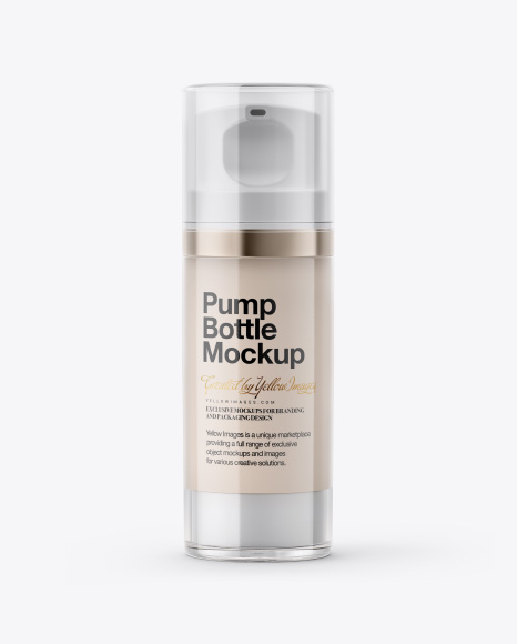 Cosmetic Bottle with Pump Mockup
