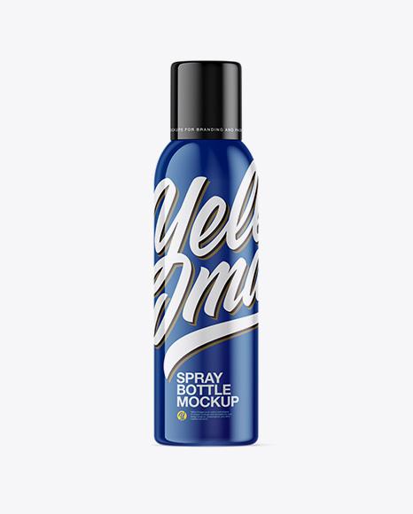 150ml Glossy Spray Bottle Mockup