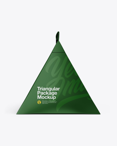 Triangular Package Mockup - Front View