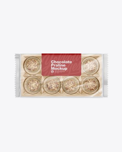 Chocolate Praline Pack Mockup - Top View