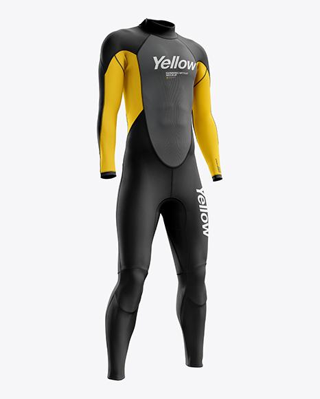 Men's Full Wetsuit mockup (Hero Shot)