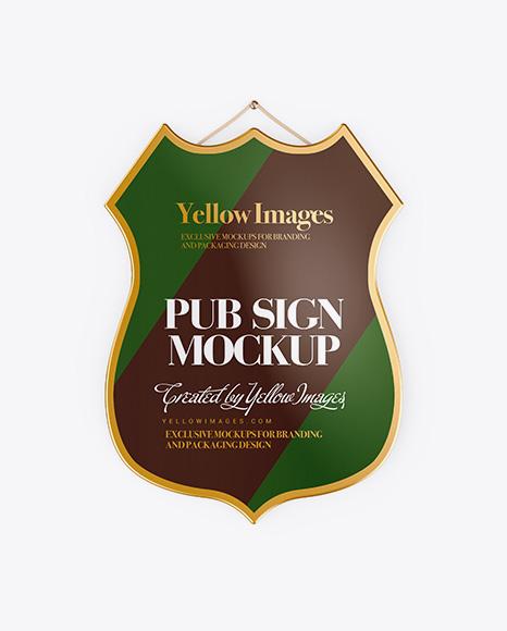Pub Sign Mockup - Front View