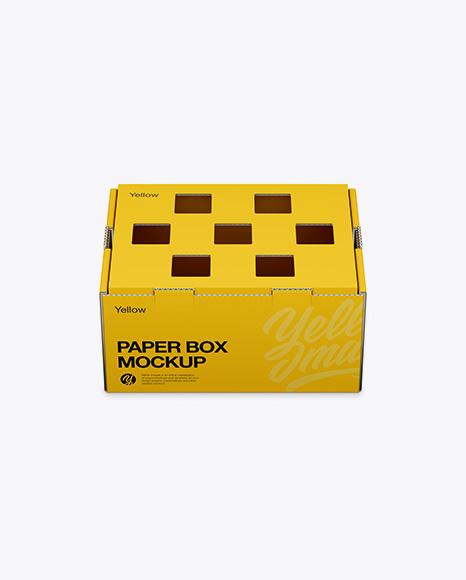 Box Mockup - Front View (High-Angle Shot)