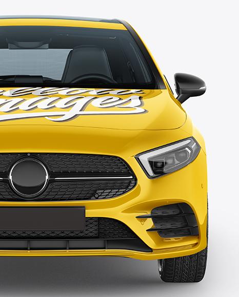 Hatchback 5-doors Mockup - Front View