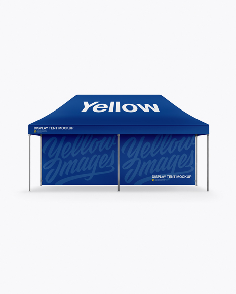 Display Tent W/ One Wall Mockup - Front View