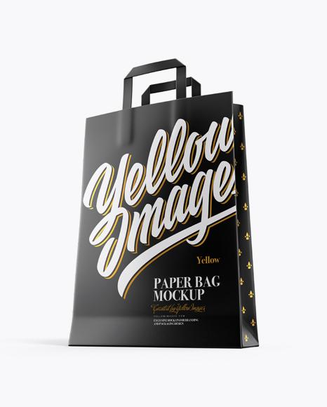 Paper Bag Mockup - Half Side View