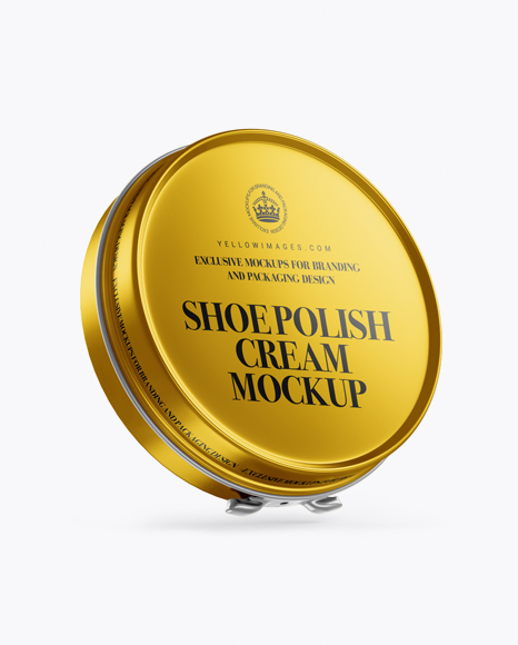 Metallic Shoe Polish Cream Jar Mockup