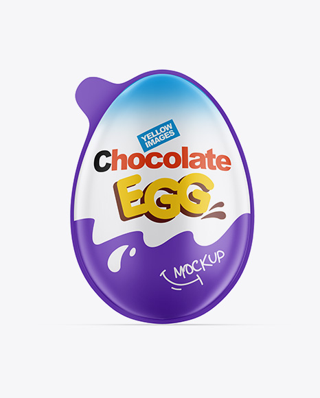 Matte Chocolate Egg Pack Mockup