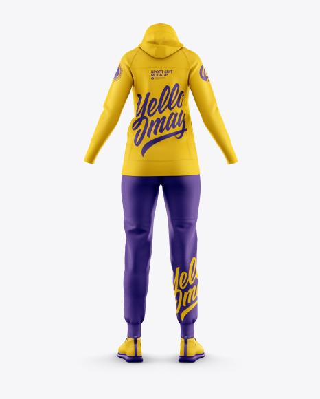 Women's Sport Suit Mockup - Back View