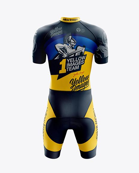 Men's Cycling Skinsuit mockup (Back View)