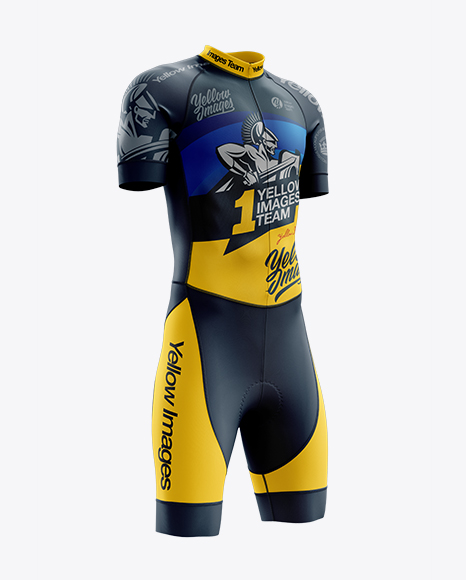 Men's Cycling Skinsuit mockup (Right Half Side View)