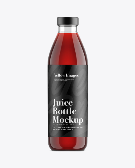 Cherry Juice Glass Bottle Mockup
